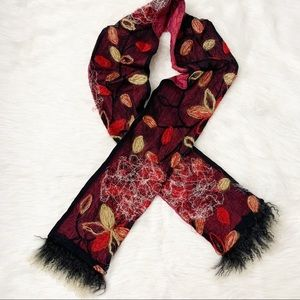 Suzi Click Scarf Mohair Floral Silk Embroidered